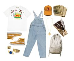 """He's no man, He's a king."" by weird-uncle on Polyvore featuring Gucci, Vans, Alkemie, Versace, Ela Stone, men's fashion and menswear"