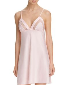 kate spade new york Dot Mesh Trim Chemise