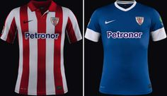 Camisa titular e reserva  do Athletic de Bilbao 2013-2014