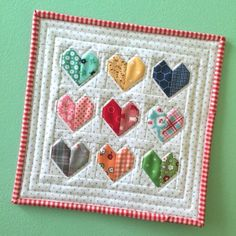 Scrappy Happy Hearts Mini Quilt - Quilting Digest