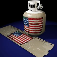 American Flag Punk Jack-its Removable Magnetic Propane Tank Cover