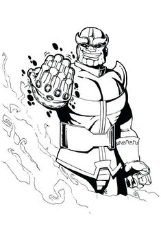 thanos coloring pages line art drawing printable for free   crafts for the boys   pinterest