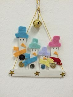 Cute little snowmen ornament idea