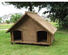 Double dog house if you have more than one dog they don't have to share
