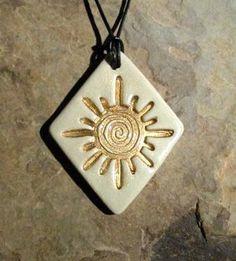 new mexico sun ceramic pendant necklace jewelry clay rob drexel