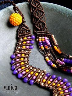 vinica / Zanubiya - necklace - micromacrame