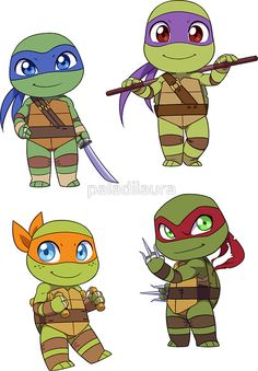 Teenage Mutant Ninja Turtles Chibi Tattoos In 2018