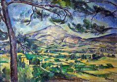 Montanha Sainte-Victoire pintada por Paul Cezanne (1887) Courtauld Gallery Somerset House London  Os fauvistas (feras ) foram domados por seus calanques (fiordes), enquanto Cézanne foi subjugado pela Montanha Sainte-Victoire, na Provence.   Suas magníficas paisagens têm encantado o coro de cigarras gorjeando suavemente ao longo do dia.