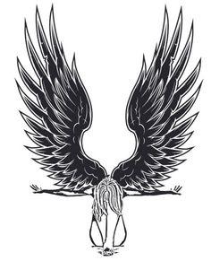 fallen Angel Woman clipart png clip art by DigitalGraphicsShop