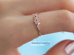 Goldringe - Super-trendy Brillant Ring in 585/- (14K) Gold - ein Designerstück…