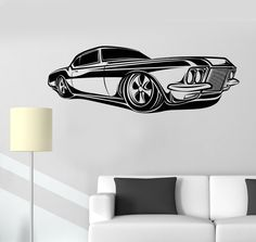 Vinyl Wall Decal Retro Car Impala Supernatural Garage Automobile Stickers (1340ig)