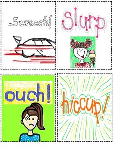 2nd Grade Smarty-Arties taught by the Groovy Grandma!: Onomatopoeia