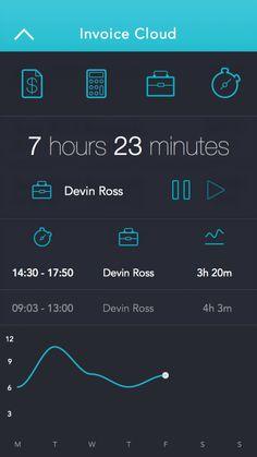 4. ios7 app design / invoice management app