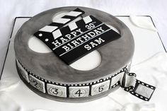 Film Reel Birthday Cake with Hand Painted Side Detail by thecustomcakeshop, via Flickr