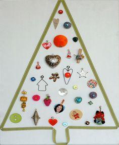 11 Ideias para árvores de Natal montadas na parede