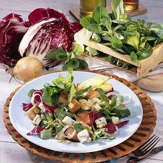 Sättigender Wintersalat Rezept | LECKER Cabbage, Snacks, Table Decorations, Meat, Chicken, Vegetables, Food, Leafy Salad, Salads