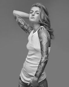 sometimes much isn't too much..love her tattoos