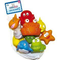 #puericultura Partner Jouet A1100613 – Juego de 10 muñecos para el baño, diseño de criaturas marinas