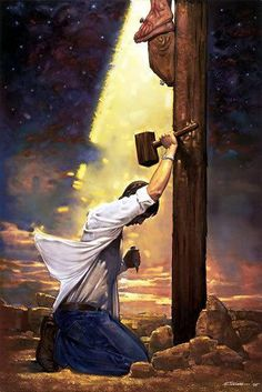 "I love this so much, that I had to include it here. ""His love for me nailed Him to the cross. Thank you Jesus for your great love and sacrifice! I love you so much!"""