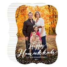 It is not too late to get your custom Happy Hanukkah cards out