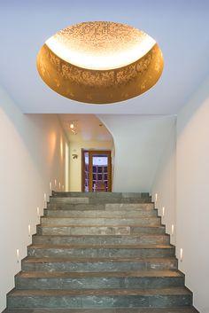 Wine cellar at a private villa Villa Design, House Design, Wine Storage, Wine Cellar, Ash, Stairs, Studio, Lighting, Home Decor