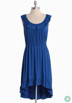 Island Getaway Curvy Plus Dress In Blue | Modern Vintage Affordable & Adorable | Modern Vintage Features - $27.50