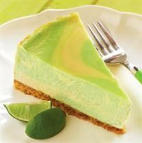 Key Lime Cheesecake - what a refreshing yummy dessert for a hot summer's day. (I'm making mine without the green food coloring, although the swirls are pretty. Low Carb Desserts, Just Desserts, Low Carb Recipes, Delicious Desserts, Cooking Recipes, Yummy Food, Healthier Desserts, Yummy Yummy, Delish
