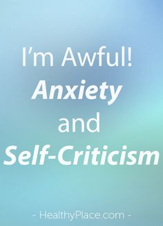 Anxiety and harsh self-talk often go together. Try this technique for replacing self-criticism with compassion.   www.HealthyPlace.com