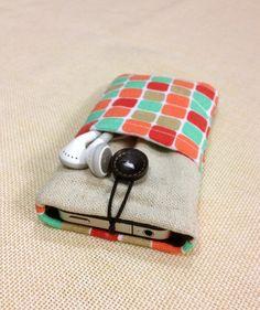 Cute Colorful grid handmade fabric iPhone by FullofDesignstore, $12.99