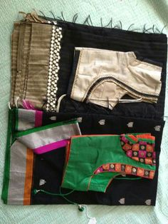 Black sarees with blouses