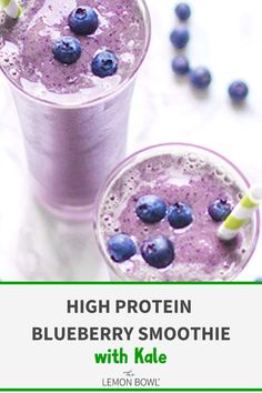 This powerhouse smoothie recipe is full of antioxidants and plenty of protein to keep you full and satisfied until your next meal. #blueberry #smoothies #smoothierecipes #smoothiesforgoodhealth #highprotein #highproteinrecipes