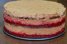 Tort cu mousse de ciocolata si zmeura - CAIETUL CU RETETE Something Sweet, Homemade Cakes, Tiramisu, Mousse, Cake Recipes, Cheesecake, Cookies, Ethnic Recipes, Desserts