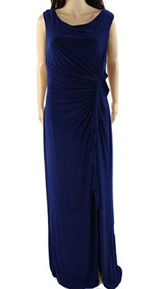 Lauren Ralph Lauren Navy Womens Ruffle Sheath Dress Blue 14 ** More info could be found at the image url. (This is an affiliate link and I receive a commission for the sales)