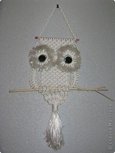 Retrato, retratos, gráfico Macrame: Owl Tema Macrame Owl, Macrame Patterns, Projects To Try, Arts And Crafts, Crafty, Christmas Ornaments, Crochet Ideas, Holiday Decor, Creative