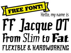 Find FF Jacque on #FontShop and download it for free!