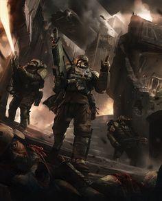 Imperial Guard - Warhammer 40k - Astra Militarum - Kasrkin - Cadian Shock Troops - Carapace Armor