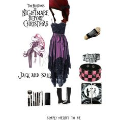 Jack And Sally Bridesmaids Dress/outfit Idea For My Nightmare Before  Christmas Wedding At Disneyland