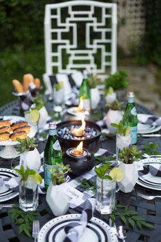 Backyard Dinner Party Series   Black & White Chic