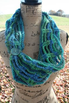 Shop for infinity scarf on Etsy, the place to express your creativity through the buying and selling of handmade and vintage goods. Cowl, Infinity, Aqua, My Etsy Shop, Crochet, Creative, Handmade, Vintage, Fashion
