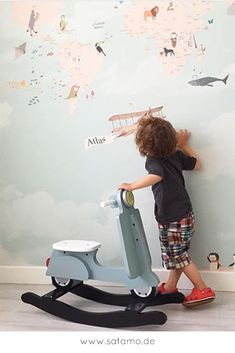 Wonderful Pic Rocking roller FENNO Style Got kids ? Then you realize that their stuff winds up virtually all around the home! Nursery Design, Wall Design, Bean Bag Seats, Horse Nursery, Modern Kids Furniture, Tough Guy, Colorful Pillows, Kidsroom, New Kids