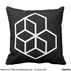 Horse (+) / Throw Cushion 51 x 51 cm