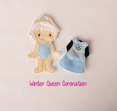 Winter queen felt paper doll, pretend play, quiet play, imaginary play, travel toy, felt non paper doll, by LucyandLyla on Etsy