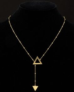 Spotted this Argento Vivo 18K Over Silver Double Triangle Lariat Necklace on Rue La La. Shop (quickly!).