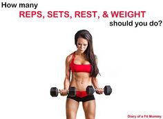 How Many Reps, Sets, Rest, and Weight Should You Do?