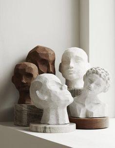 minimalist modern art sculpture home decor Sculptures Céramiques, Sculpture Art, Geometric Sculpture, Sculpture Ideas, Abstract Sculpture, Skandinavisch Modern, Keramik Design, Ideias Diy, Ceramic Art