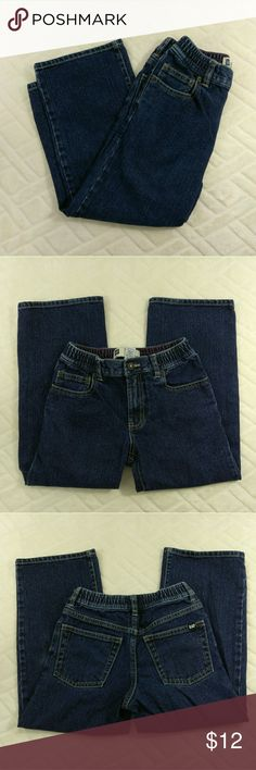 """GAP Relaxed Kids Jeans Size 6 Very good used condition. Shows some wear from normal use, especially on knee area (see pictures). Other than that in excellent shape. Light to moderate washed look. Kid's size 6. 100% Cotton. Elastic waistband. Hook and clasp front fly button. Machine wash. Aprox. laying flat measurements: 12.5"""" waist (elastic), 20"""" inseam, 8"""" frontrise, 12"""" backrise, 28.5"""" long.  Remember to bundle up and save, so check my closet for more treasure finds. GAP Bottoms Jeans"""
