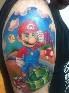Super Mario tattoo.