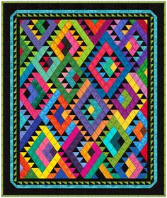 Fab new quilt from Reeze Hanson - will be out at the Houston Show this spring.