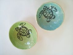 Loggerhead Hatching  Bowl by elizabethpottery on Etsy, $15.00