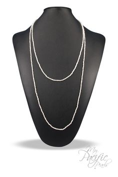 SAN ANDRES COLLECTION - Rare 1-2mm Pearl Necklace and Earrings with 500 - 750 Pearls